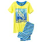 Wiped Out 2-Piece Shortie Pajama Set
