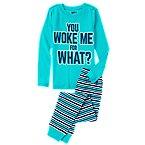 Woke Me For What 2-Piece Pajama Set