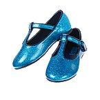 Glitter T-Strap Flats
