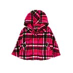 Plaid Microfleece Poncho