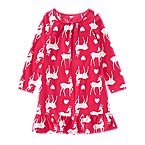 Reindeer Microfleece Pajama Gown