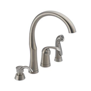 Bellini Single Handle Kitchen Faucet with Spray and Soap Dispenser
