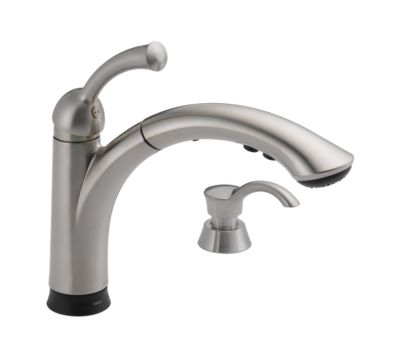 Lewiston Single Handle Pull-Out Kitchen Faucet with Touch2O® Technology