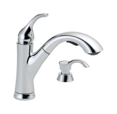 Kessler Single Handle Pull-Out Kitchen Faucet with Soap Dispenser