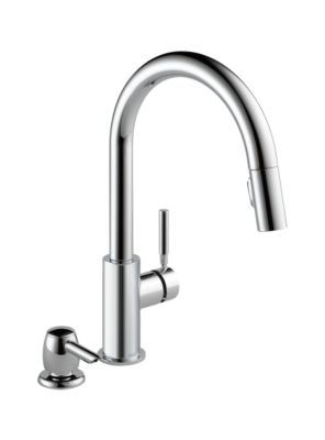 Trask Single Handle Pull-down Kitchen Faucet with Magnatite and Soap Dispenser