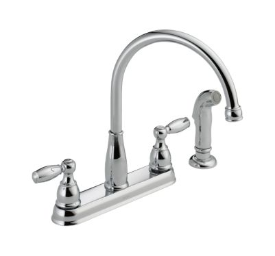 Foundations Two Handle Kitchen Faucet with Spray