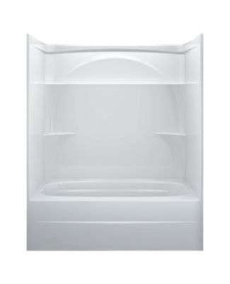 Styla 60in. X 32in.  One Piece Tub Shower-Left Drain