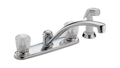 Classic Two Handle Kitchen Faucet with Spray