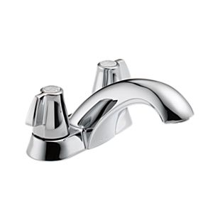 Classic Two Handle Centerset Lavatory Faucet - Less Pop-Up