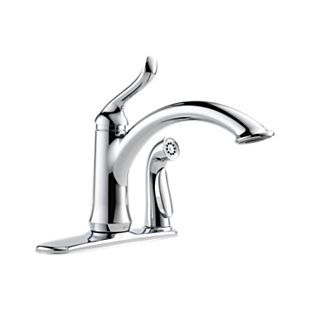 Linden Single Handle Kitchen Faucet with Integral Spray
