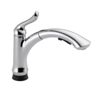 Linden Single Handle Pull-Out Kitchen Faucet with Touch2O® Technology