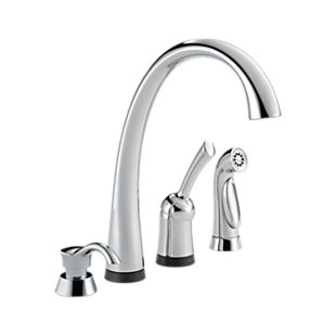 Pilar Single Handle Kitchen Faucet  with Touch2O® Technology and Spray