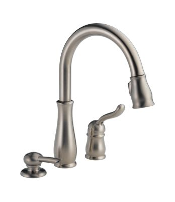 Leland Single Handle Pull-Down Kitchen Faucet with Soap Dispenser