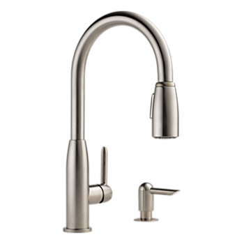 P88103lf Sssd L Kitchen Single Handle Pull Down Product