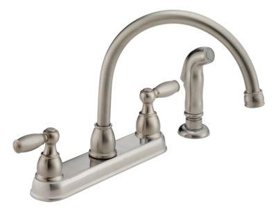 p99575 ss two handle kitchen faucet product documentation
