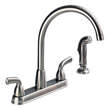 Two Handle High Arc Kitchen Faucet with Spray