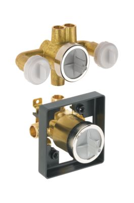 Victorian Jetted Shower™ Rough-In Valve with extra Outlet (6-Setting)