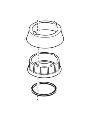 Delta Trim Ring, Base and Gasket