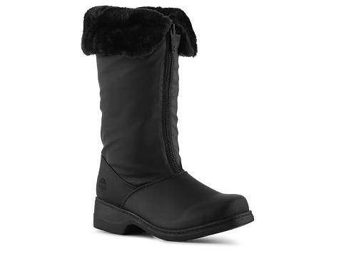 Split Front Fur Trim Shoe Boots