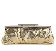 Lulu Townsend Metallic Frame Clutch