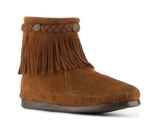 Minnetonka Back Zip Western Bootie