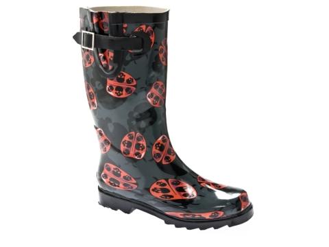 Chooka Lady Bug Skulls Rain Boot   DSW