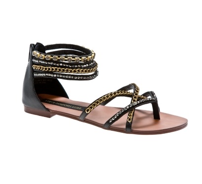 SM Luxe Brooch Leather Gladiator 						 						 					 					 						 						 						 					 						 						 						            	 			            	SM Luxe                 						 					 				 				 				 				- DSW :  chain sandals dsw shoes womens shoes