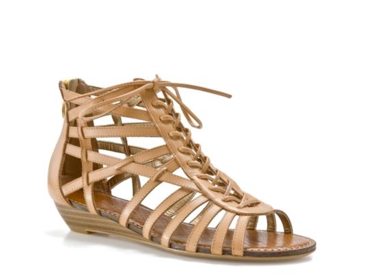 SE Boutique Gina Ghillie Wedge Sandal