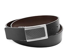 Kenneth Cole Reaction Textured Plaque Reversible Belt