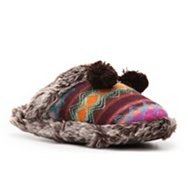 Steve Madden Fairisle Fur Cuff Slipper