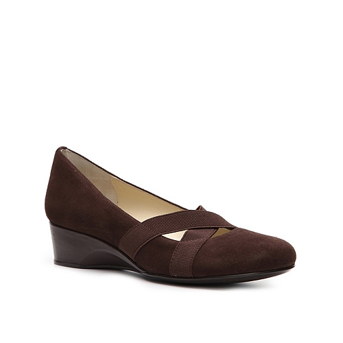Taryn by Taryn Rose Mist Wedge Pump - Brown Suede