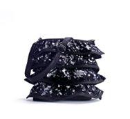 Poppie Jones Sequined Ruffle Crossbody Bag