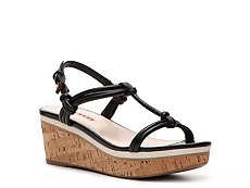 Prada Leather Wedge Sandal