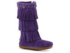 Minnetonka 3 Layer Fringe Girls Toddler & Youth Western Boot