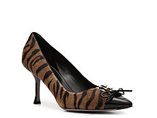 Sergio Rossi Pony Hair Corset Pump