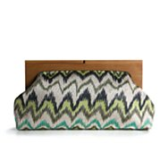 Poppie Jones Metallic Ziggy Print Clutch