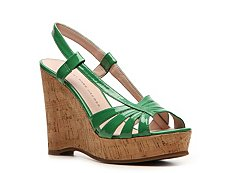 Marc by Marc Jacobs Patent Leather Wedge Sandal