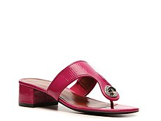 Marc by Marc Jacobs Patent Leather Turnlock Sandal