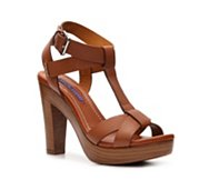 Ralph Lauren Collection Adalira Leather Platform Sandal