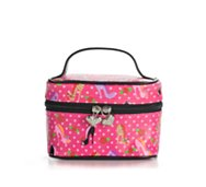 Fluff Polka Dot Shoes Small Train Case