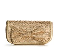 Poppie Jones Bow Glitter Clutch