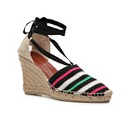 Marc by Marc Jacobs Printed Canvas Wedge Sandal