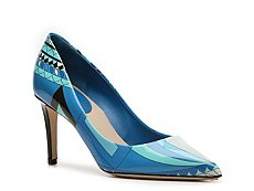 Emilio Pucci Printed Patent Leather Pump
