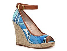 Emilio Pucci Printed Canvas Wedge Pump