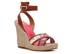 Emilio Pucci Printed Canvas Wedge Sandal
