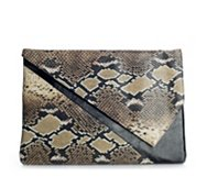Poppie Jones Side V Snake Flap Clutch