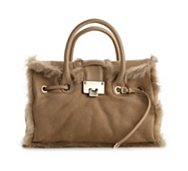 Jimmy Choo Rosalie Shearling Satchel