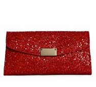 Jimmy Choo Raine Leather Glitter Clutch