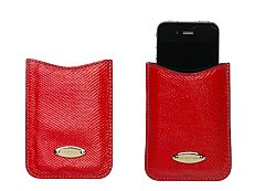 Sergio Rossi Leather Glitter Tech Case