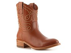 Sergio Rossi Leather Beaded Cowboy Boot